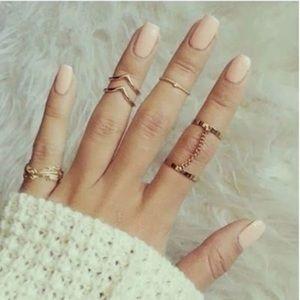 💙 Silver Link Ring Set
